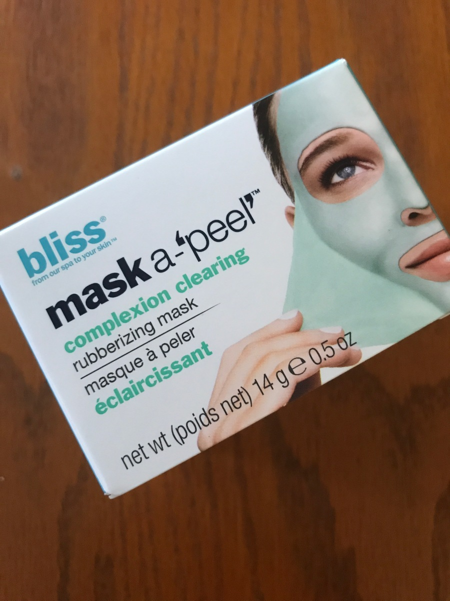 Mask Monday: Bliss Mask A-'Peel' Complexion Clearing Rubberizing Mask