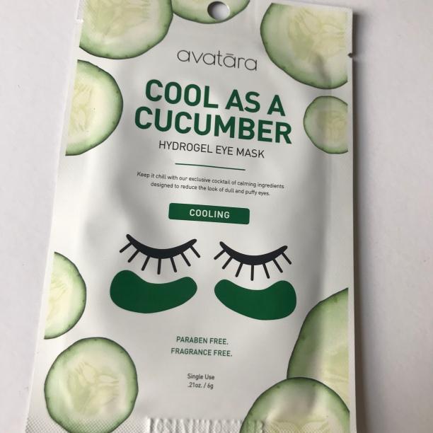 Avatara Cool As A Cucumber Hydrogel Eye Mask: do I have to repeat myself?
